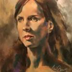 Pastel on sanded cardboard, model: Ruth